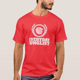 Camiseta diaria de Junglist - tambor de DNB y rojo