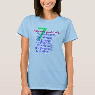 camiseta diatómica de las moléculas