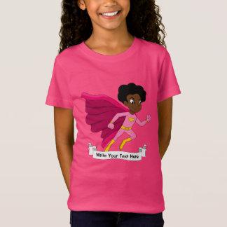 Camiseta Dibujo animado corriente de encargo del chica del