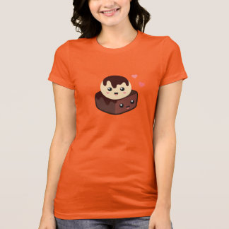 Camiseta Dibujo animado de Kawaii de la crema y del brownie