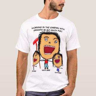Camiseta Dibujo animado del jardín del abuelo