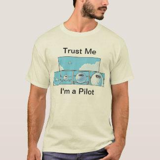 Camiseta Dibujo animado del piloto del humor de la aviación
