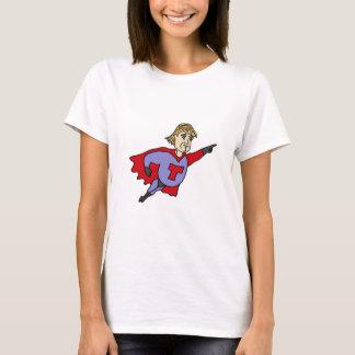 Camiseta Dibujo animado divertido del superhéroe de Donald
