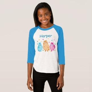 Camiseta Dibujo animado lindo de pequeños potros coloridos,