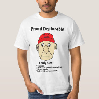 Camiseta Dibujo animado político deplorable orgulloso