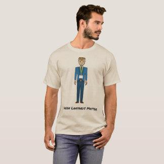Camiseta Dibujo animado verde de la materia de los