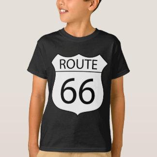 Camiseta Dibujo de la muestra de la ruta 66