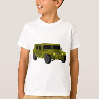 Camiseta Dibujo del dibujo animado del camión de ejército