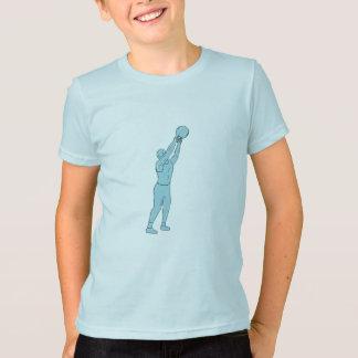 Camiseta Dibujo del oscilación de Kettlebell de la aptitud