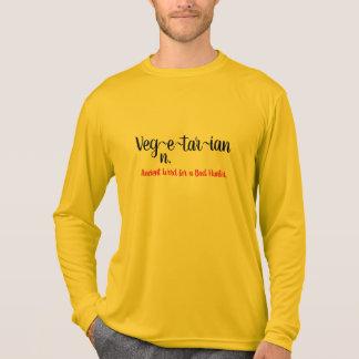 Camiseta diccionario vegetariano que significa diseño