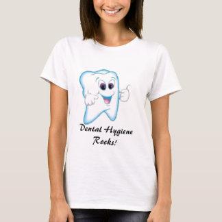 Camiseta ¡diente feliz, rocas dentales de la higiene!