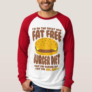 Camiseta Dieta sin grasa de la hamburguesa