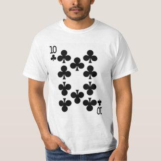 Camiseta Diez del naipe de los clubs