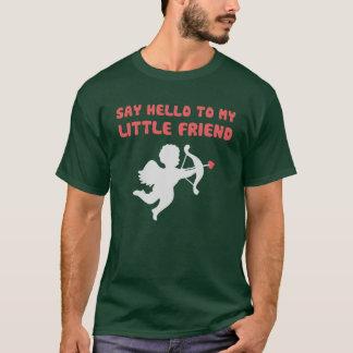 Camiseta Diga hola a mi pequeño el día de San Valentín del