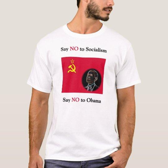 Camiseta Diga que NO al socialismo dice no a Obama