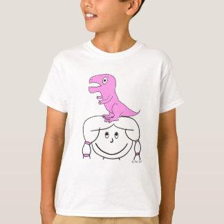 """Camiseta """"Dinosaurio en mi cabeza!"""" La ropa del chica (Dino"""