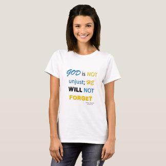 Camiseta Dios no es injusto