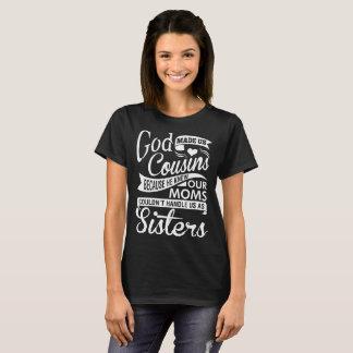 Camiseta Dios nos hizo a primos porque él sabía nuestra