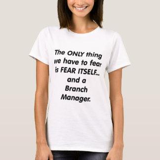 Camiseta director de sucursal del miedo