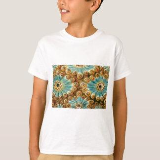 Camiseta diseño azul del moreno de formas