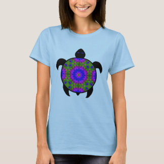 Camiseta Diseño caleidoscópico de la tortuga de la mandala