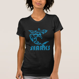 Camiseta Diseño contemporáneo del remolino de los tiburones