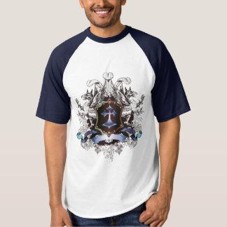 Camiseta Diseño cruzado azul elegante
