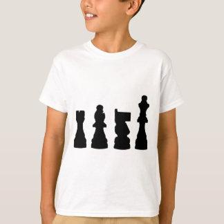 Camiseta Diseño de la silueta del pedazo de ajedrez