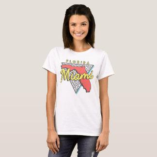 Camiseta Diseño de Miami Beach la Florida 80s