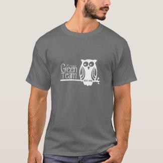 Camiseta Diseño del búho del equipo del verde de SMPS