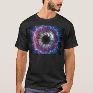 Camiseta Diseño del fractal del ojo de Tesla
