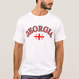 Camiseta Diseño del fútbol de Georgia