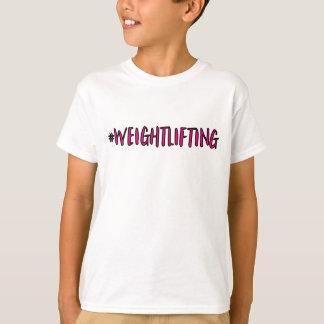 Camiseta Diseño del levantamiento de pesas
