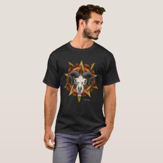 Camiseta Diseño del Pentagram del cráneo de la cabra