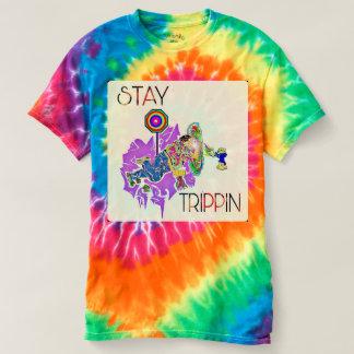 Camiseta Diseño del teñido anudado de Trippin de la