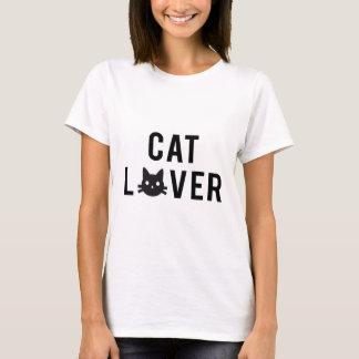 Camiseta Diseño del texto del amante del gato con la cara
