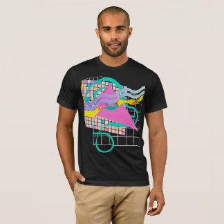 Camiseta Diseño en colores pastel de neón de la rejilla