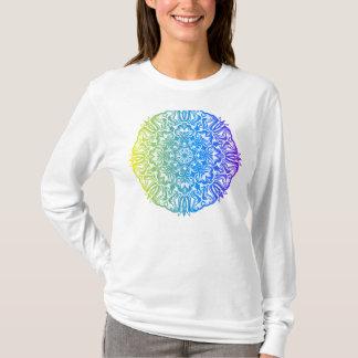 Camiseta Diseño floral étnico abstracto colorido de la