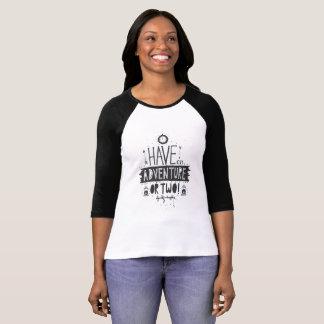 Camiseta diseño fresco, fresco para el campista y señora de