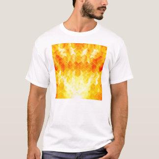 Camiseta Diseño geométrico del cubo del resplandor solar