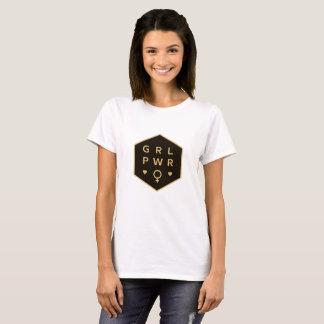 Camiseta Diseño gráfico colorido negro del poder el | del