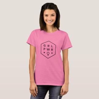 Camiseta Diseño gráfico negro del poder el | del chica