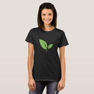 Camiseta Diseño gráfico negro verde verde de la vida el |
