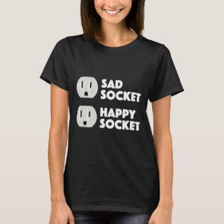 Camiseta Diseño lindo de la cara del zócalo feliz triste