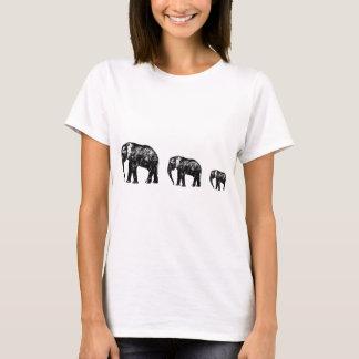 Camiseta Diseño lindo de la silueta de la familia del