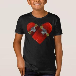 Camiseta Diseño roto amor del skateboarding del tablero