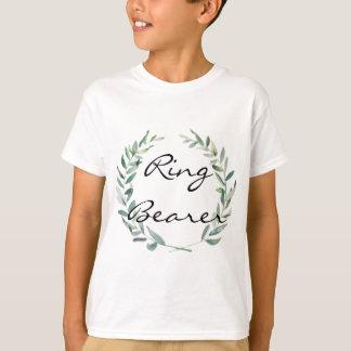 Camiseta Diseño rústico de la guirnalda de la magnolia de