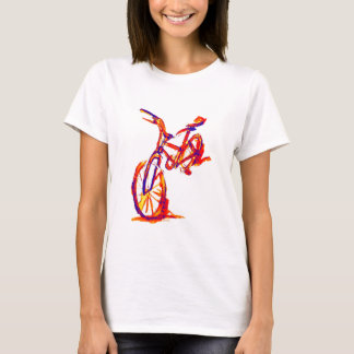Camiseta Diseños coloridos de la bici