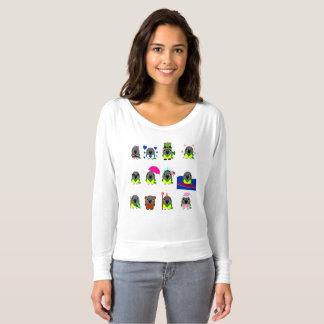 Camiseta diseños del día de fiesta del loro de Senegal del