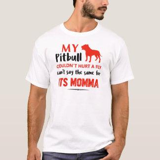 Camiseta Diseños divertidos de la mamá del pitbull